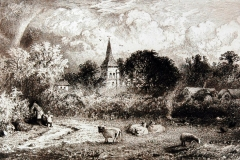 St_Nicholas_Church_Brandard_Drawing_with_sheep